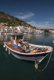 Boats in the harbor of Gytheio Stock Image