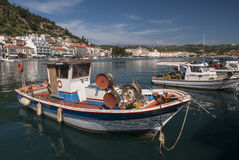 Boats in the harbor of Gytheio Royalty Free Stock Image