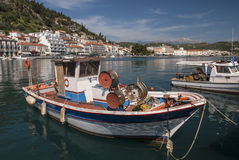 Boats in the harbor of Gytheio Stock Photography
