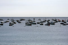 Boats in a harbor, Llafranc, Catalonia, Spain Royalty Free Stock Photography