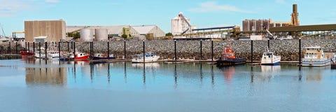 Boats In A Harbor Marina royalty free stock photos