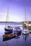 Boats in Harbor Stock Photography