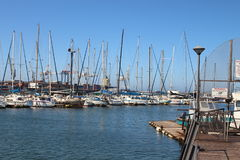 Boats in harbor Royalty Free Stock Image