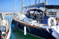 Boats in harbor. Boats in safe harbor. Latchi, Cyprus Royalty Free Stock Image