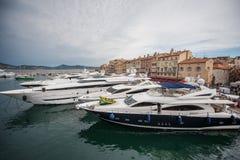 Boats in harbor in Saint-Tropez Stock Image