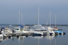 Boats in the harbor of Saltholmen, Gothenburg archipelago Stock Image