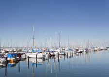 Boats at Harbor Stock Photography