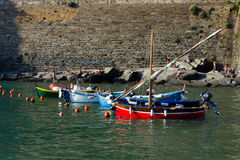 Boats on harbor royalty free stock images