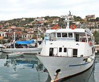 Boats in the harbor of Volos Greece. Part of the port of Volos - Greece Royalty Free Stock Images