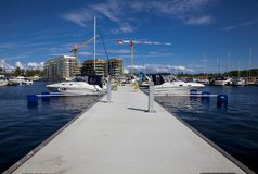 Some boats in the harbor. Boats in the harbor waiting to sail of royalty free stock images