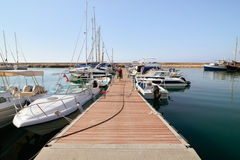 Boats in harbour Royalty Free Stock Images