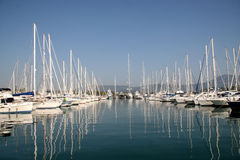 Boats at harbour Royalty Free Stock Image