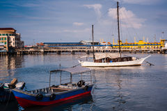 Boats at harbour Stock Photography