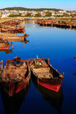 The boats in harbour Royalty Free Stock Photos