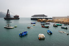 Boats in harbour Stock Photography