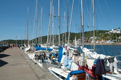 Boats in harbour Royalty Free Stock Photography