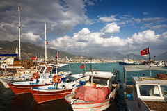 Alanya Harbor Royalty Free Stock Photo