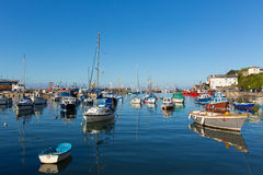Boats in harbour Brixham Devon England during the heatwave of Summer 2013 Royalty Free Stock Images