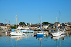 Boats in the harbour of Concarneau, Brittany, France. Royalty Free Stock Photos