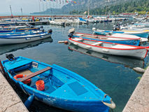 Boats harbour Garda lake Stock Photo
