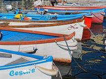 Boats at harbour of Garda lake Royalty Free Stock Photos
