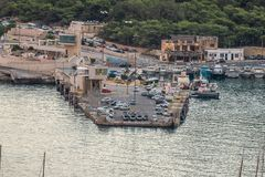 Mgarr Hourbour mall Gozo stock photo