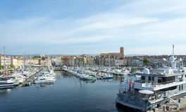 Boats harbour La Ciotat harbour royalty free stock photo