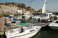 Boats in Harbour Padstow Cornwall England Royalty Free Stock Images