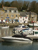 Boats in Harbour Padstow Cornwall England Royalty Free Stock Photography