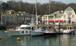 Boats in Harbour Padstow Cornwall England Stock Images