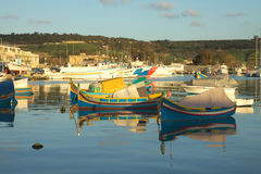 Boats in the harbour Stock Photo