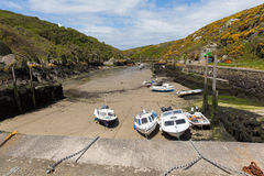 Boats and harbour Porth Clais West Wales Royalty Free Stock Images