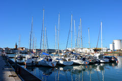 Boats in the harbour Sables d'olonne Royalty Free Stock Photo
