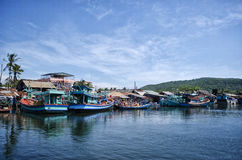 Boats in the Harbour. A shot of boats lined up in a harbour Royalty Free Stock Photo