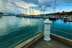 Sutra Harbour at sunset. Borneo, Sabah, Malaysia Stock Photography