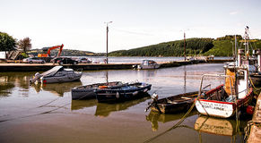 Boats in Harbour Stock Image