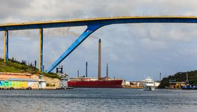 Industry at Curacao Harbor Royalty Free Stock Photos