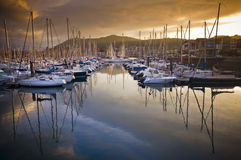 Boats in Hendaye marina. Boats and ships in the marina of Hendaye in Pays Basque, France Stock Photo