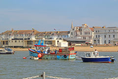 Boats And Herne Bay Sea Front Royalty Free Stock Photography