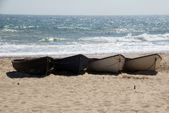 4 Boats - high and dry Stock Photography