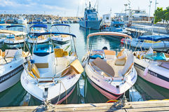 The boats for hire Stock Photography