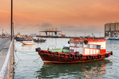 Boats for hire in sea Royalty Free Stock Images