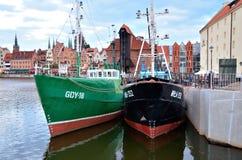 Boats in historic marine Royalty Free Stock Photos