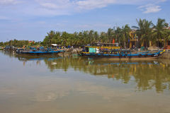 Boats in Hoi An Royalty Free Stock Photos