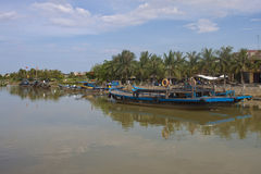 Boats in Hoi An Royalty Free Stock Photo