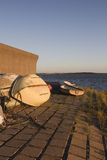 Boats at Holehaven, Canvey Island, Essex, England Stock Photos