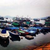 Boats of Hong Kong stock photography