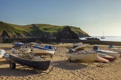 Boats at Hope Cove, Devon, England Royalty Free Stock Image