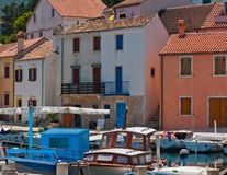 Boats Houses Mediterranean Royalty Free Stock Image