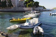 Boats at Hvar island in Croatia Royalty Free Stock Image